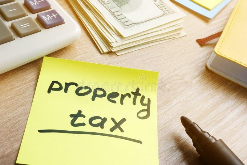 备忘录忠心于词财产税 免版税库存图片