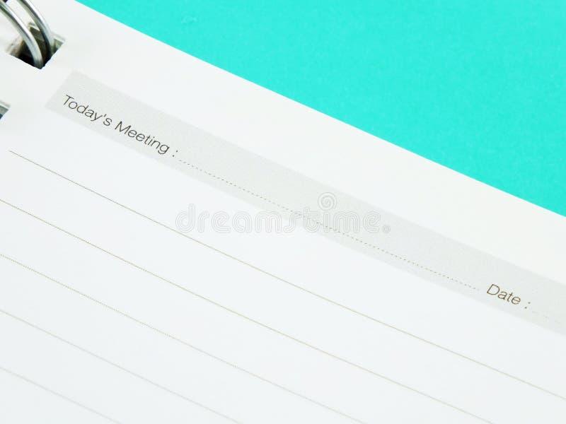备忘录笔记本纸 免版税图库摄影