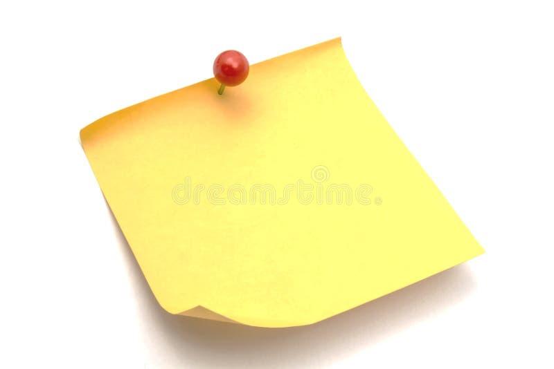 备忘录纸 免版税库存图片