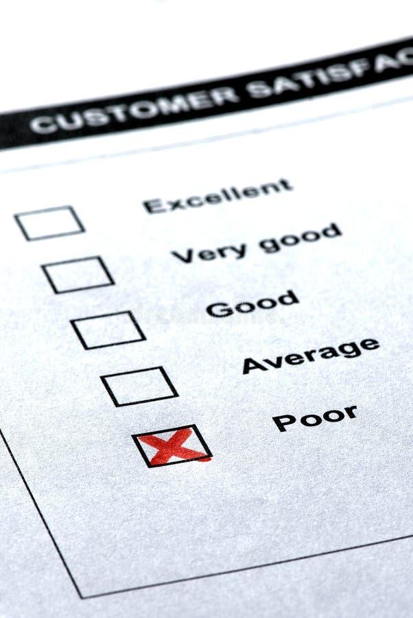备注客户负的服务 免版税库存照片