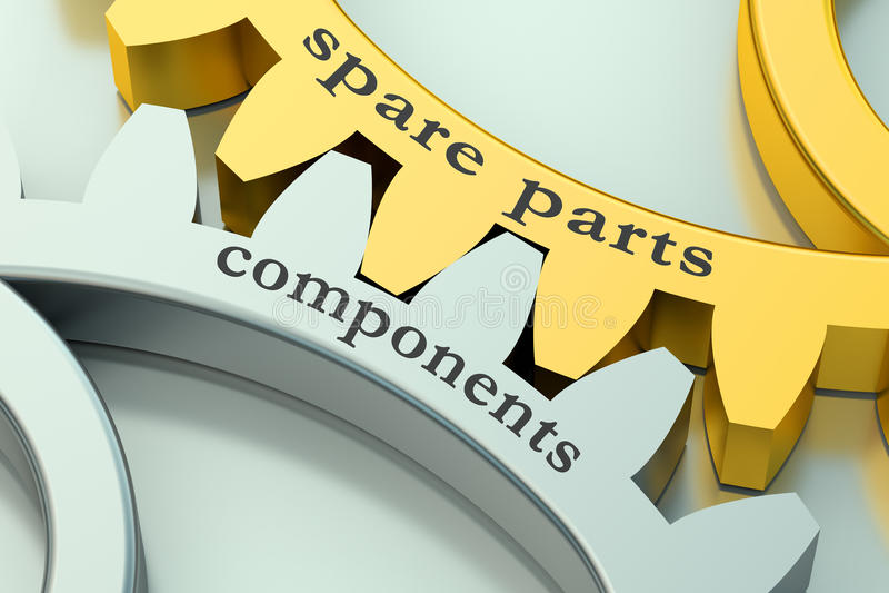 备件和组分概念在大齿轮 库存例证