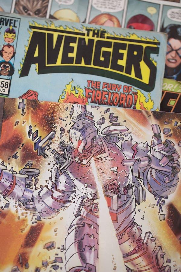 复仇者奇迹漫画超级英雄 免版税图库摄影