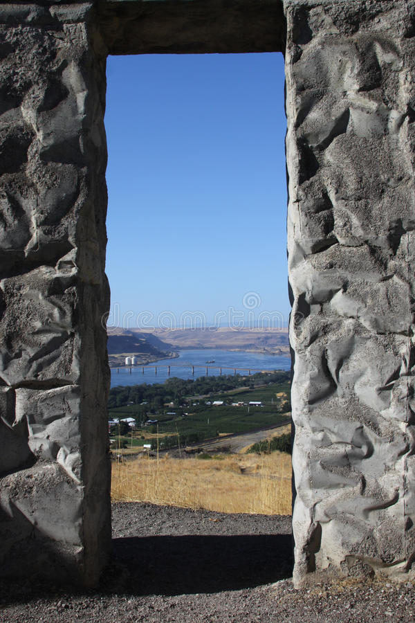 复制品stonehenge美国视图 库存图片