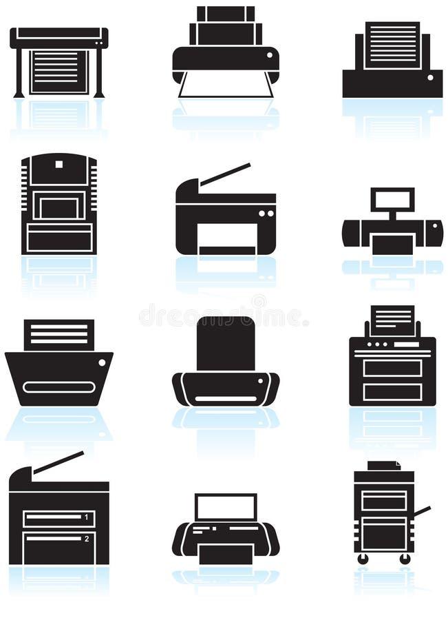 复制图标设备打印机 库存例证