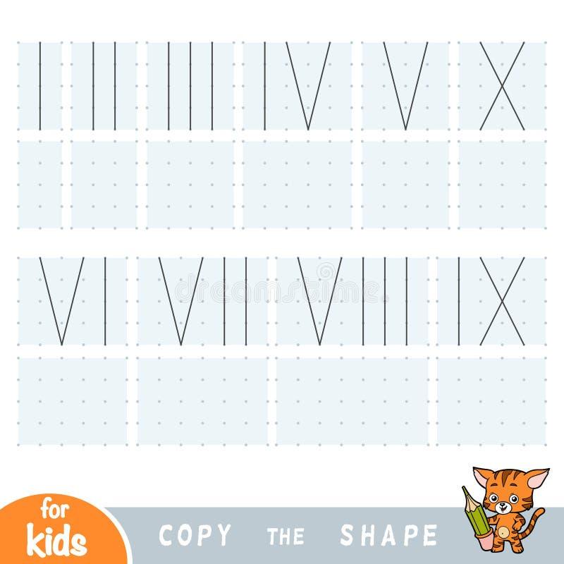 复制图片,孩子的教育比赛 得出罗马数字 库存例证