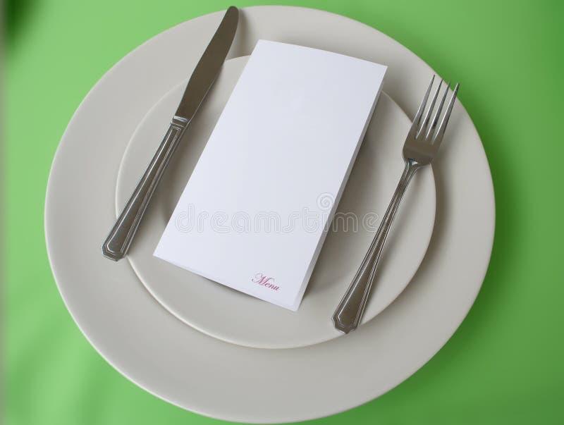 复制在牌照空间的菜单 免版税图库摄影