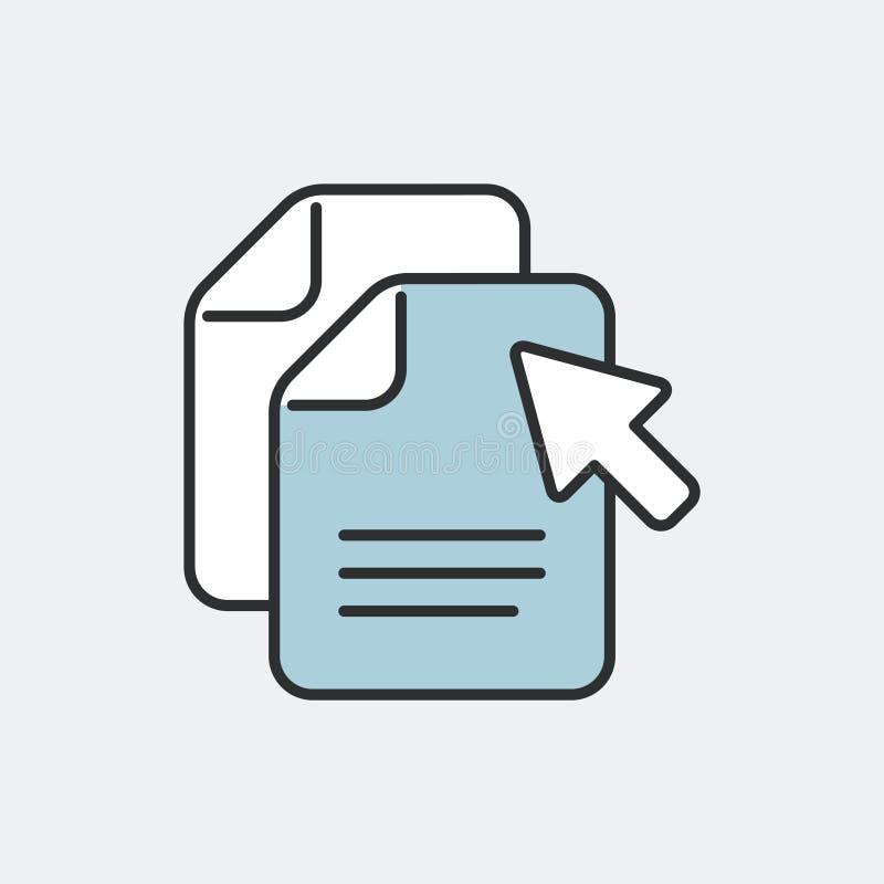 复制文件标志概念 平和被隔绝的eps illu 库存例证