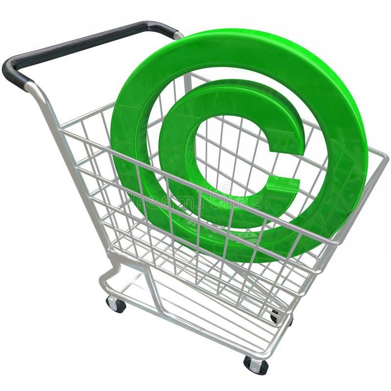 复制权标志3d购物车知识产权Protecti 库存例证