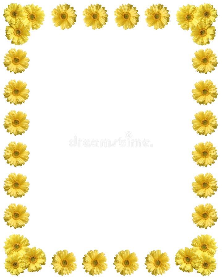 复制花框架空间黄色 免版税图库摄影
