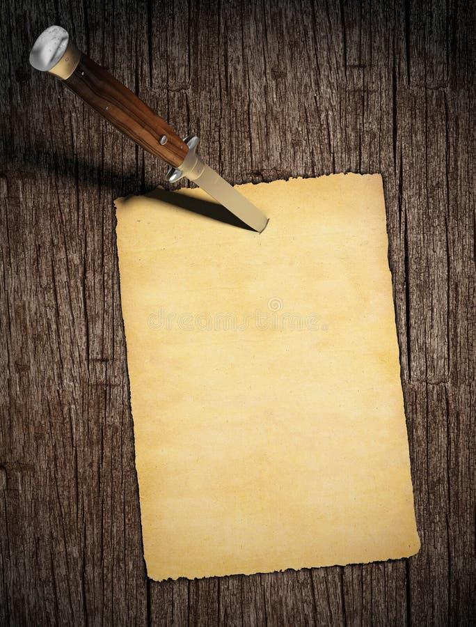 复制被固定的纸空间 皇族释放例证