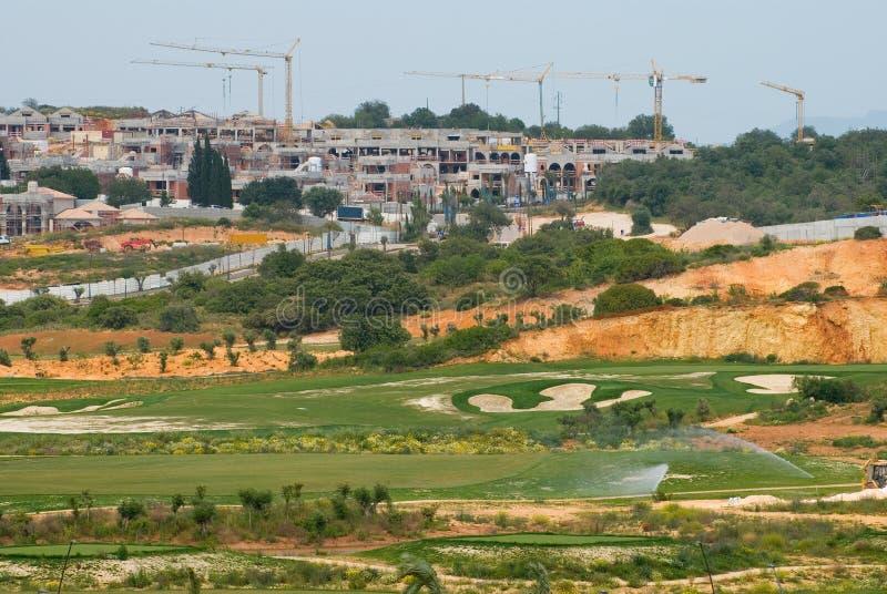复杂建筑高尔夫球 库存照片