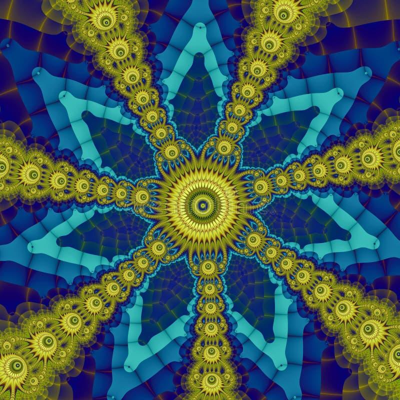 复杂星状装饰品 免版税库存图片