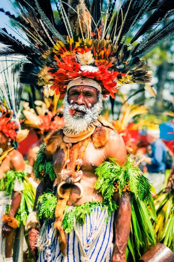 复杂服装在巴布亚新几内亚 免版税图库摄影