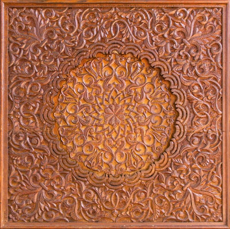 复杂木伊斯兰装饰 库存照片