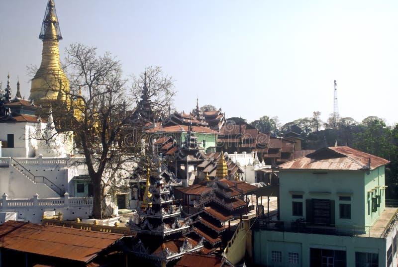 复杂缅甸寺庙 库存图片