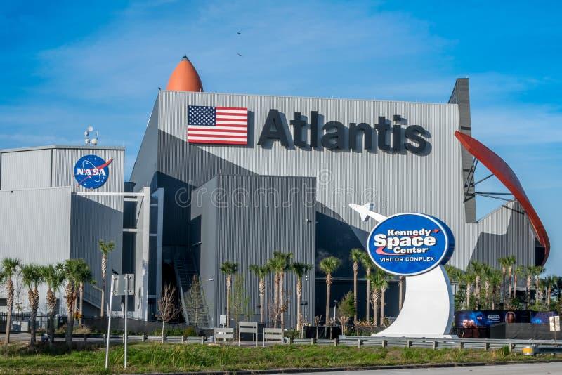 复杂肯尼迪航天中心的访客 库存图片