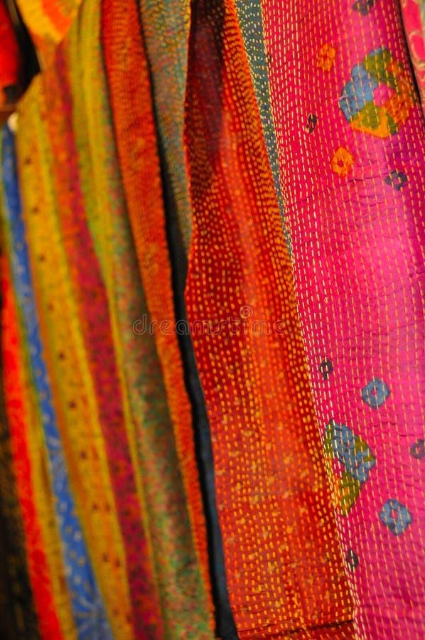 复杂被制作的织品的现有量 免版税库存图片