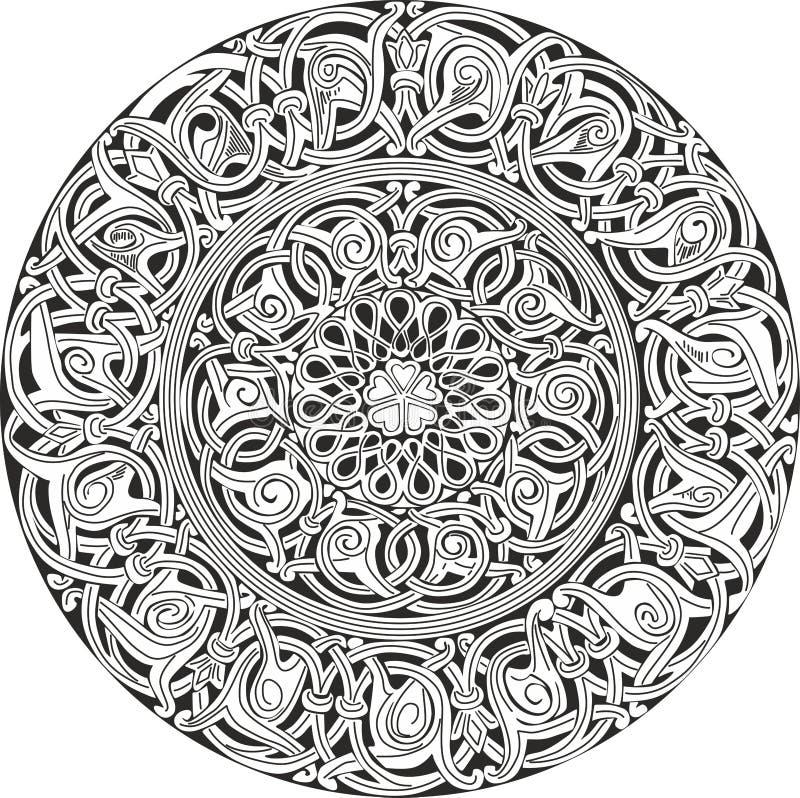 复杂装饰圆的结节型 向量例证