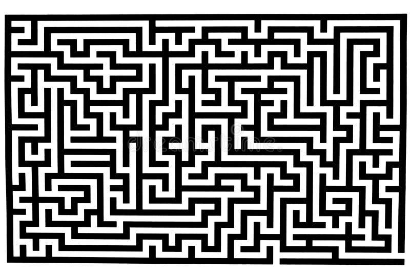 复杂迷宫 库存例证
