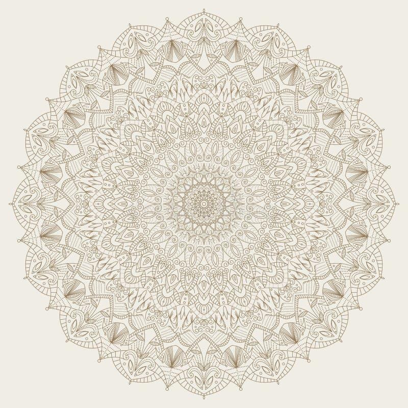 复杂,详细的坛场-圆的传染媒介装饰品 皇族释放例证