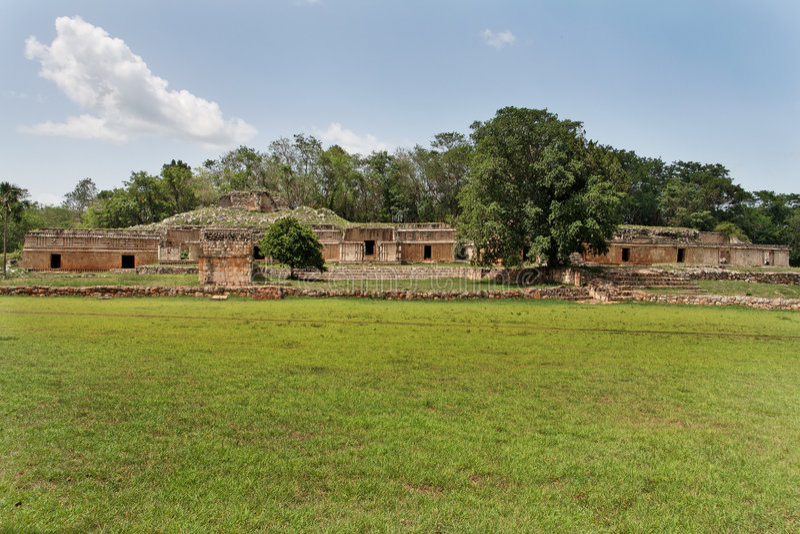 复杂labna玛雅墨西哥尤加坦 库存照片