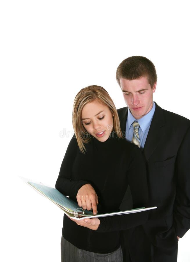 复核小组的企业附注 免版税库存图片