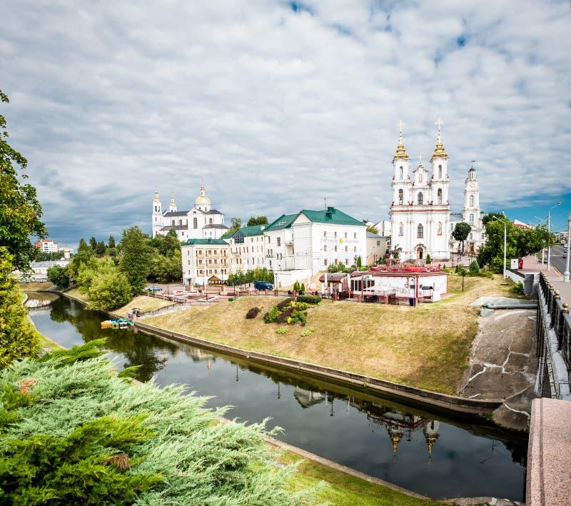 复活的教会在维帖布斯克白俄罗斯 图库摄影