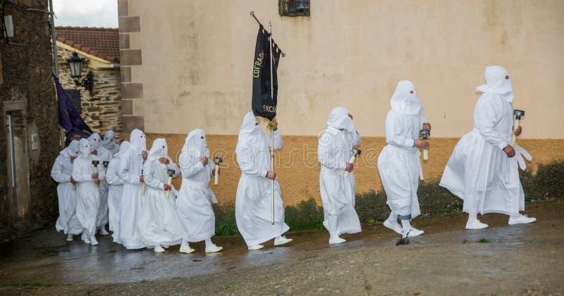 复活节传统队伍在Bercianos 免版税库存图片