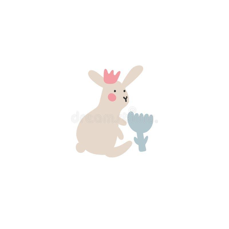复活节兔子冒险,是寻找和掩藏假日鸡蛋 复活节在minimalistic传染媒介样式的设计元素 皇族释放例证