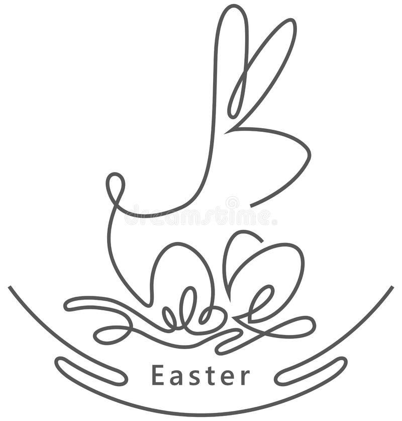 复活节兔子-概述例证 皇族释放例证
