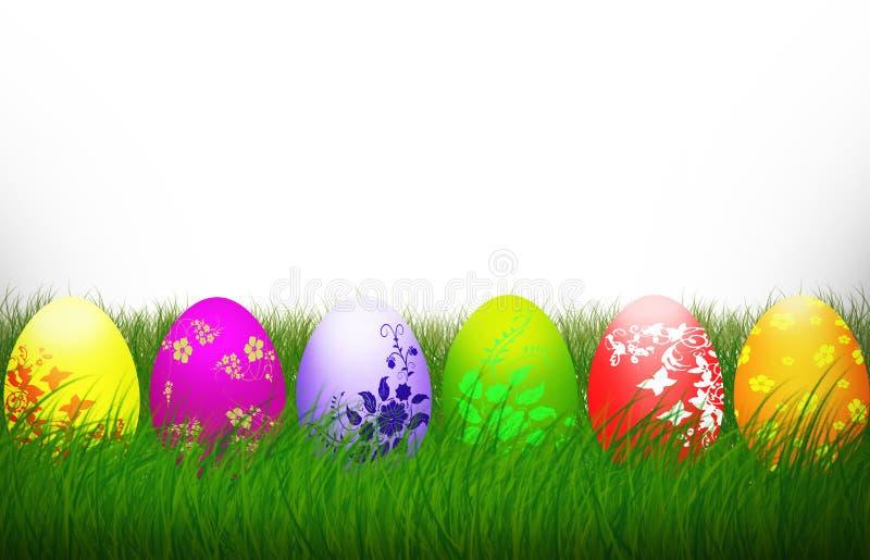复活节发怒五颜六色的蛋宗教背景假日 向量例证