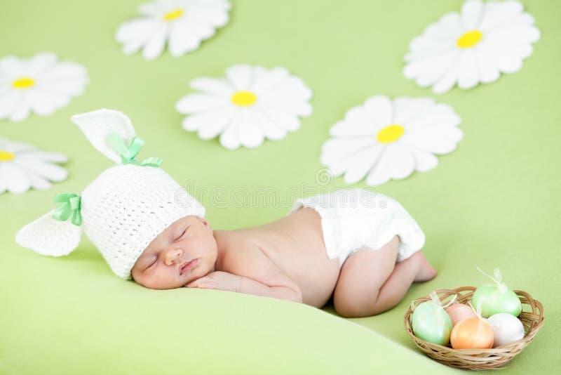 复活节女婴休眠 库存照片