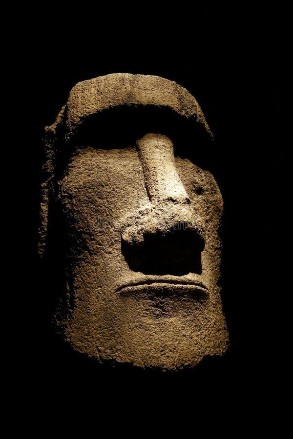 复活节岛moai雕象 免版税图库摄影