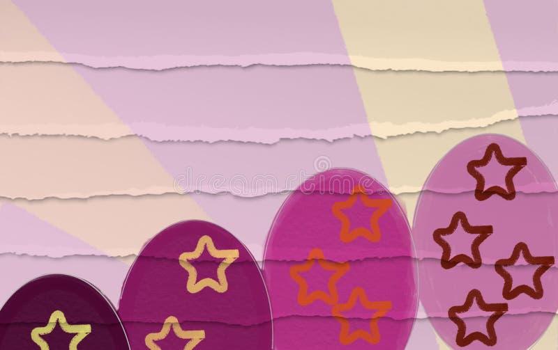 复活节彩蛋上色淡色逗人喜爱的背景 免版税库存图片