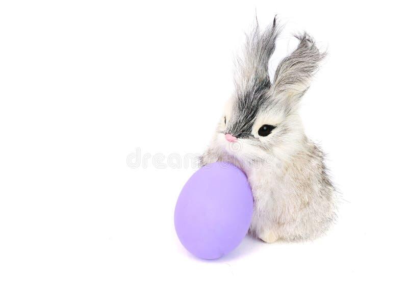 复活节彩蛋和小兔 免版税库存照片