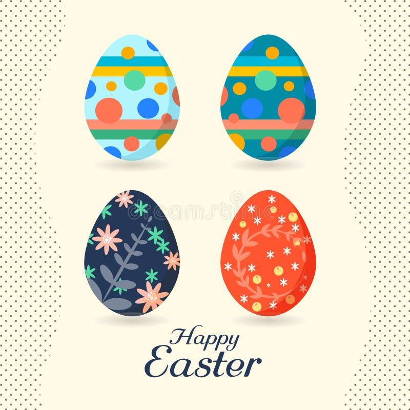 复活节彩蛋复活节假日设计 库存例证