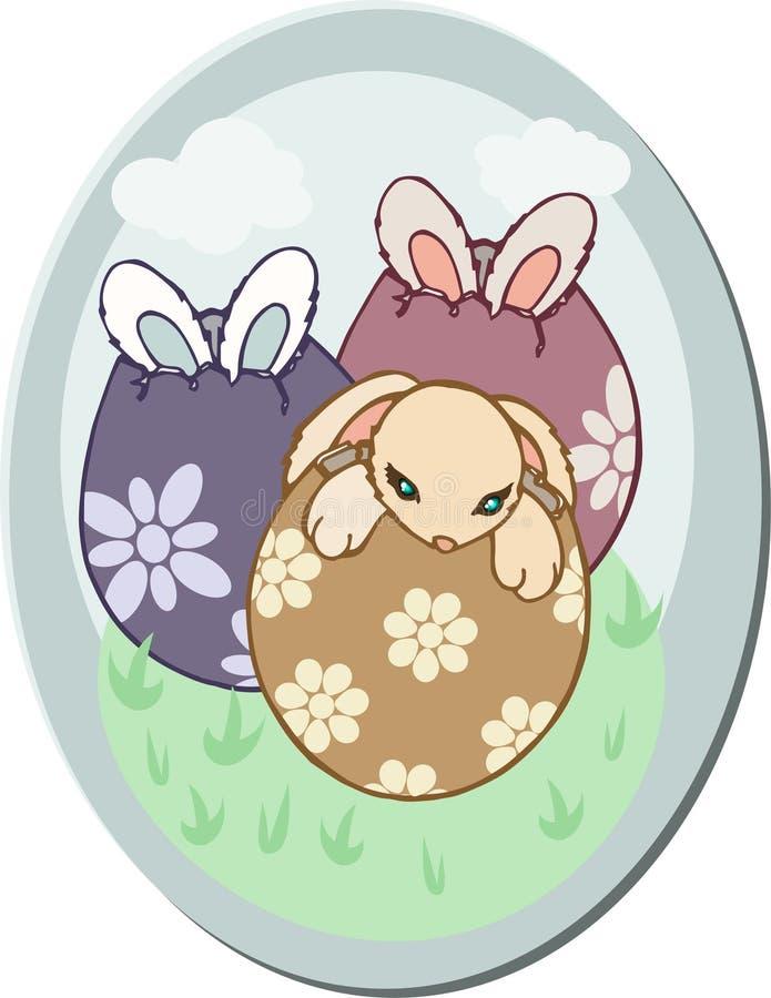 复活节彩蛋小兔子 库存照片