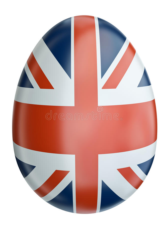 复活节彩蛋标志英国 皇族释放例证