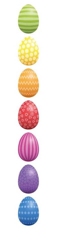 复活节彩蛋样式设计垂直 库存例证