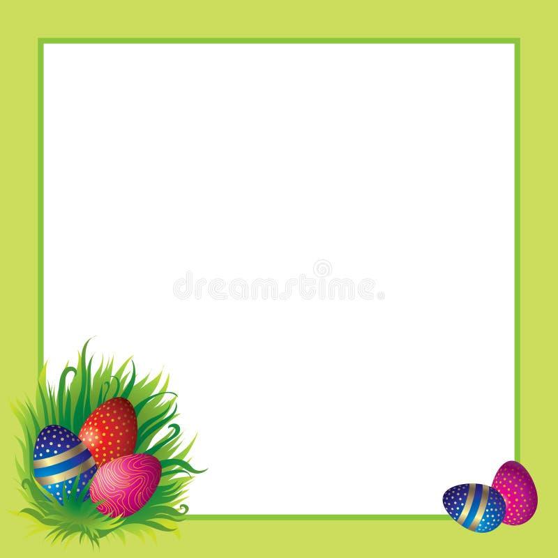 复活节彩蛋框架 库存例证