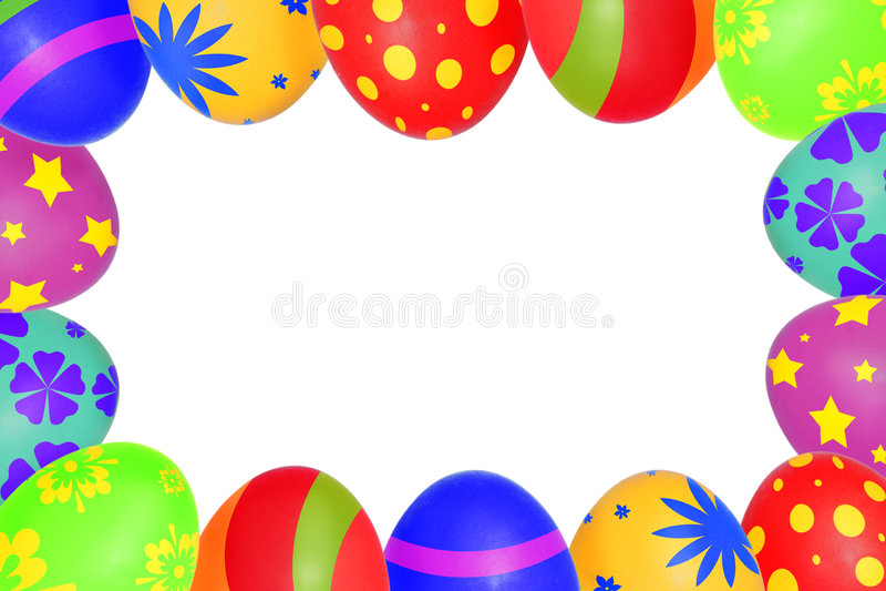 复活节彩蛋框架 库存照片