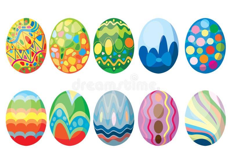复活节彩蛋的设计和五颜六色每年的节日 库存例证