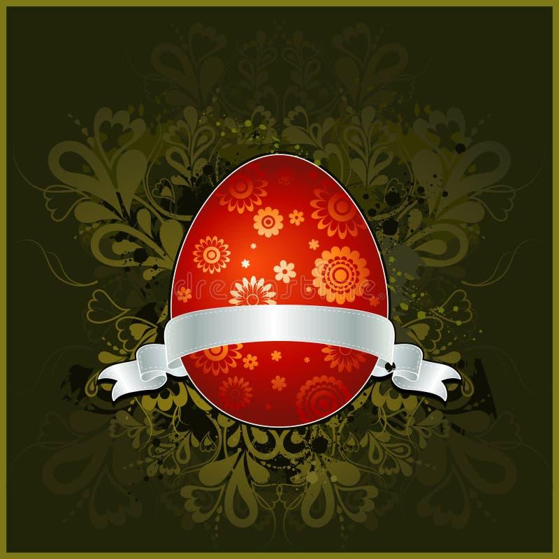 复活节彩蛋红色向量