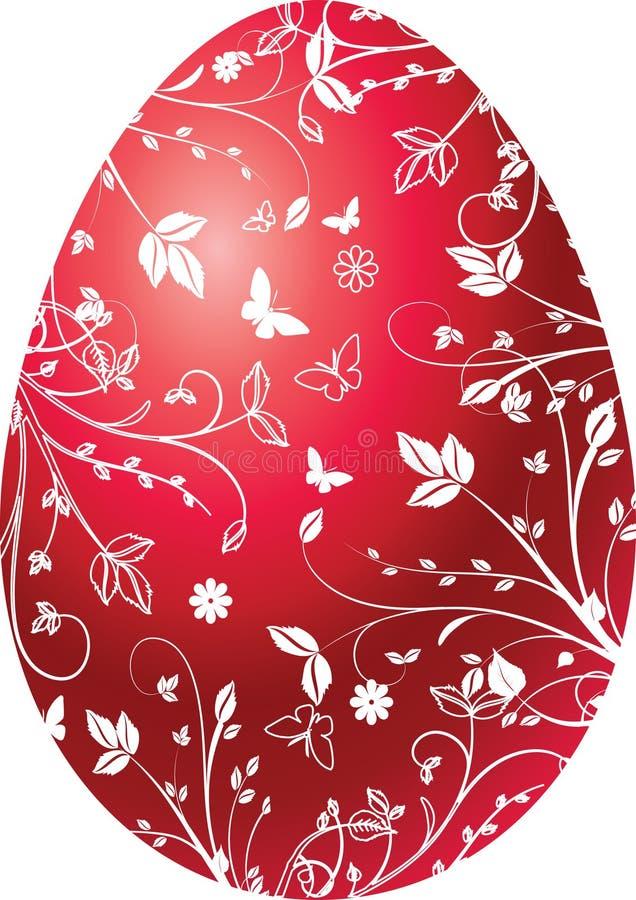 复活节彩蛋红色 皇族释放例证
