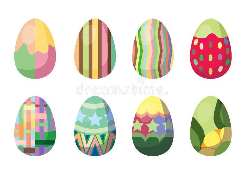 复活节彩蛋设计和幻想节日 库存例证