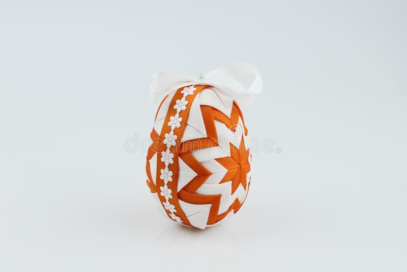 复活节彩蛋,做在补缀品技术 免版税图库摄影