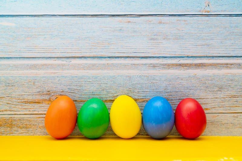 复活节彩蛋,愉快的复活节狩猎假日装饰 免版税图库摄影