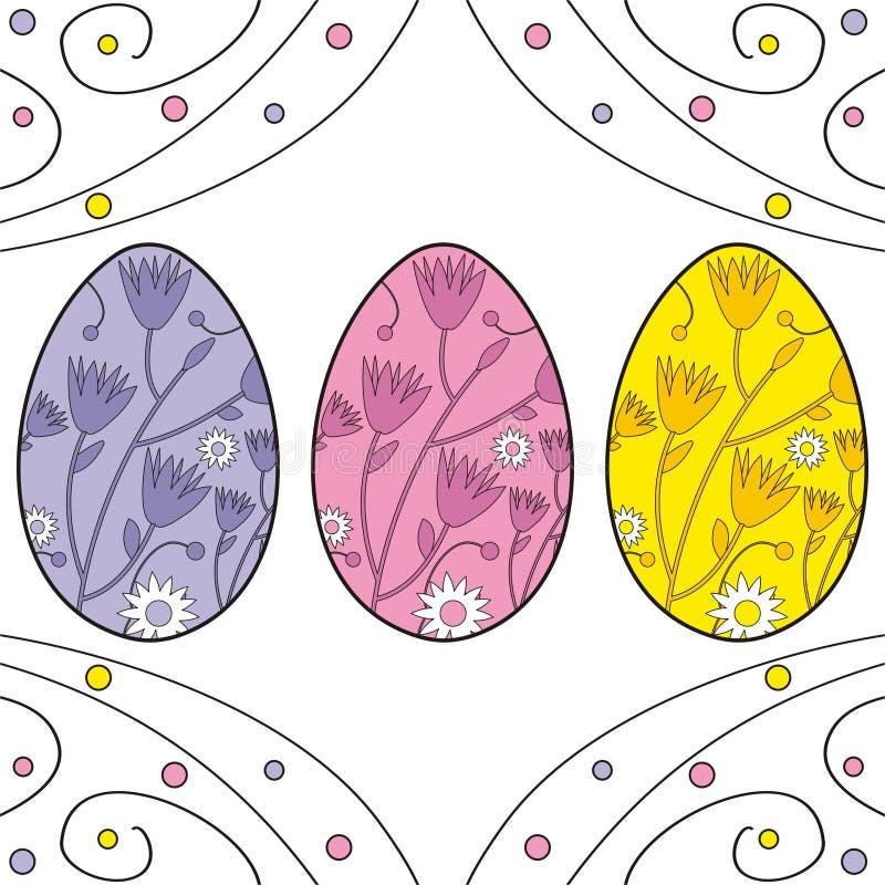 复活节彩蛋 向量例证