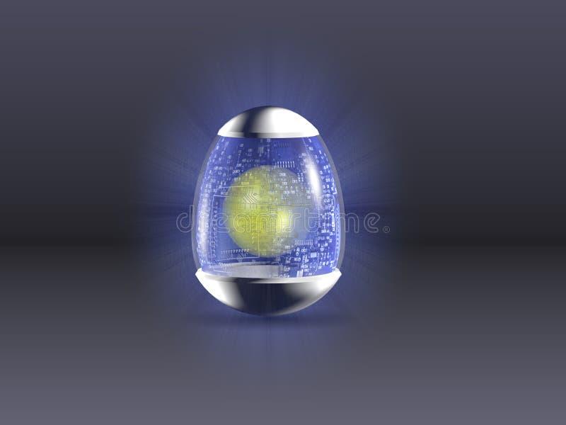 复活节彩蛋hight技术 向量例证