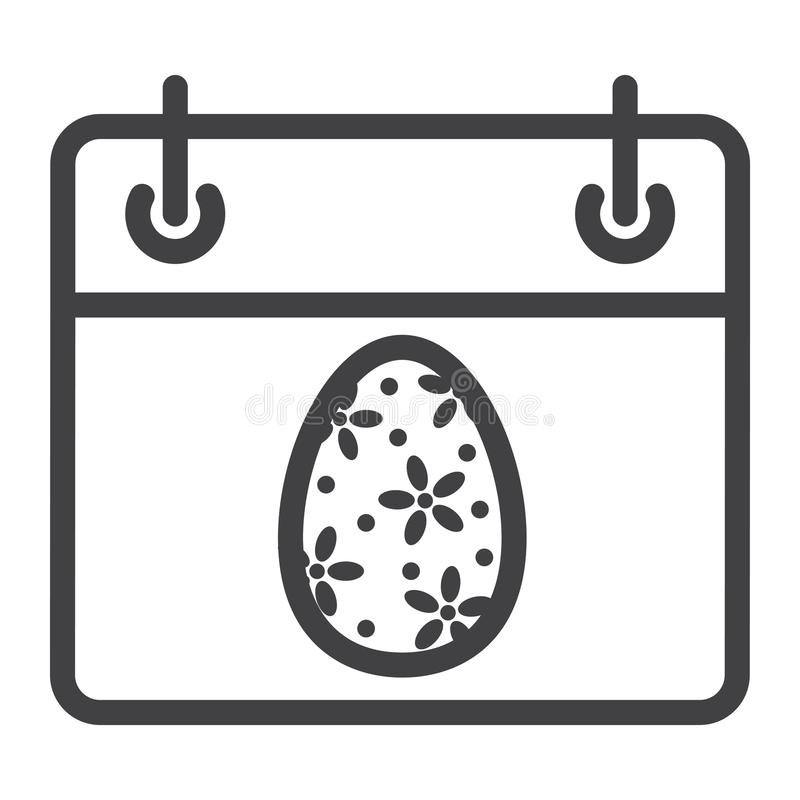 复活节日历线象、复活节和假日 库存例证